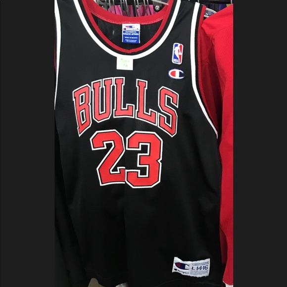 3bea5a18a5346 Champion Shirts | Vintage Chicago Bulls Michael Jordan Jersey | Poshmark